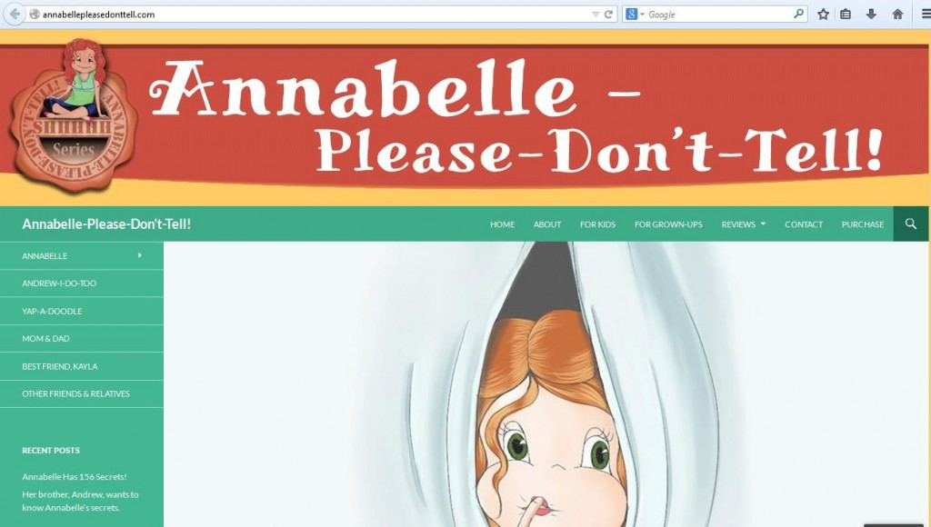 Annabelle's first book and website are coming soon!