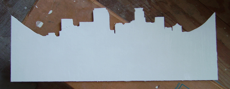 Custom Ketubah - cutting out the skyline