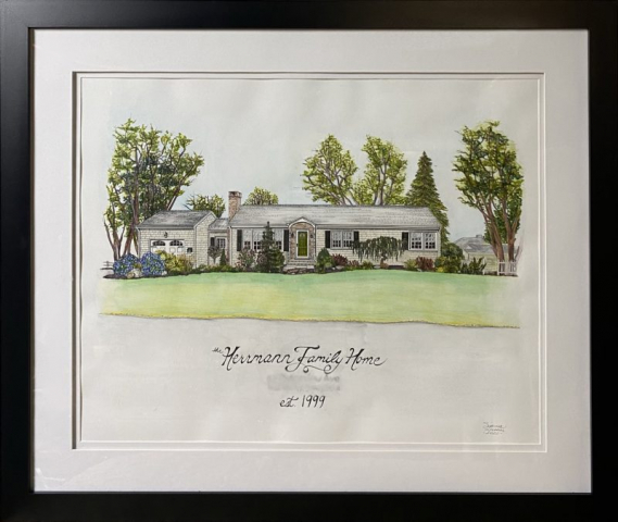 HOUSE PORTRAIT | Watercolors, Pen & Ink on Watercolor Paper | 16 x 20 inches