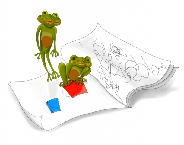 ANNABELLE'S FROGS   Digital Book Illustration for Annabelle Please Don't Tell! Book Series