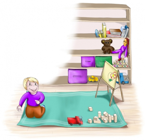 ANNABELLE'S PLAYROOM  Digital Book Illustration for Annabelle Please Don't Tell! Book Series