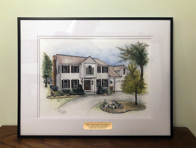 HOUSE PORTRAIT | Watercolors, Pen & Ink on Watercolor Paper | 9 x 12 inches