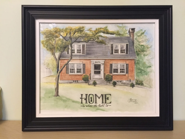 HOUSE PORTRAIT | Watercolors, Pen & Ink on Watercolor Paper | 8 x 10 inches