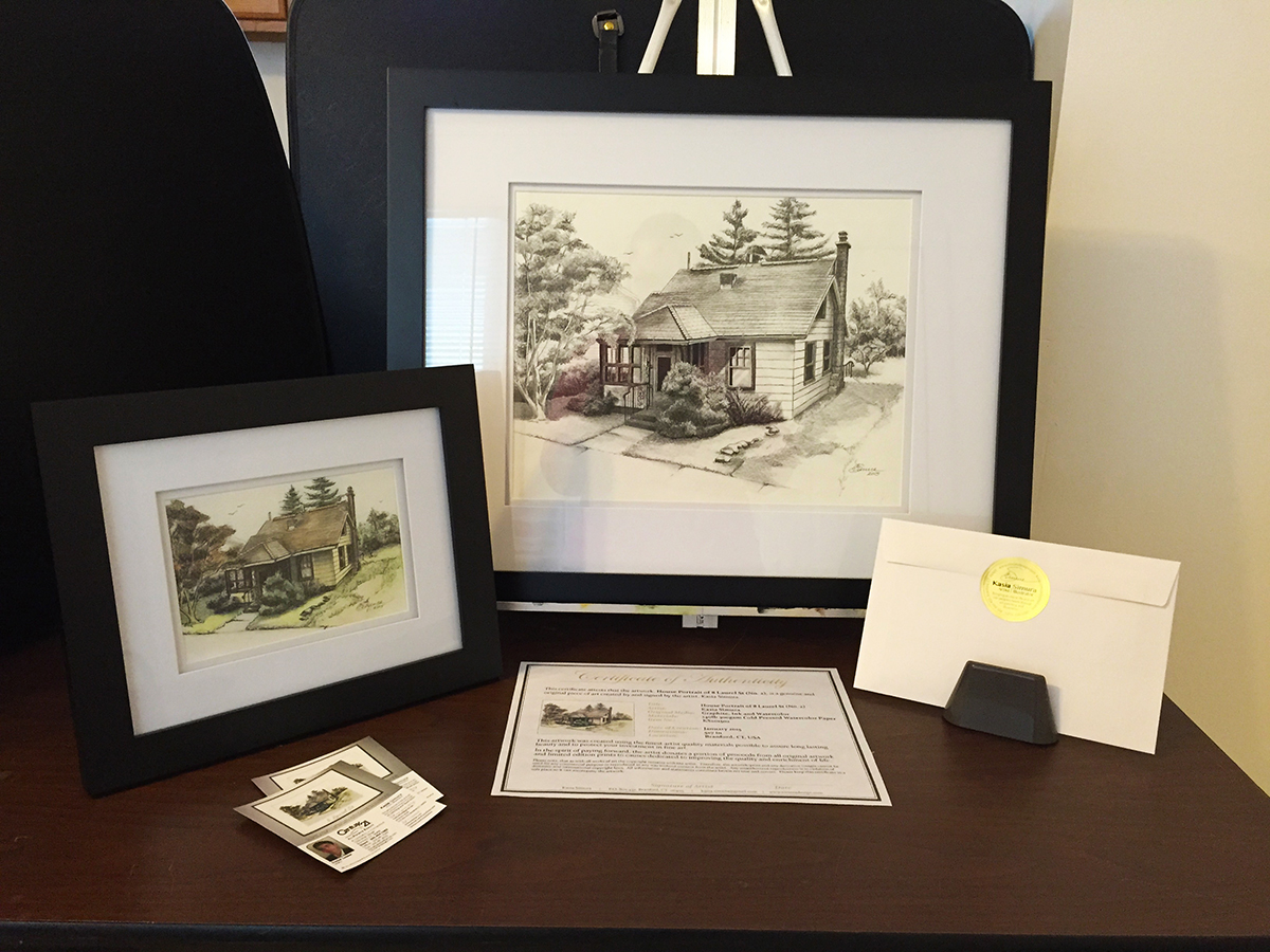 HOUSE PORTRAIT SET | Watercolors, Pen & Ink on Watercolor Paper