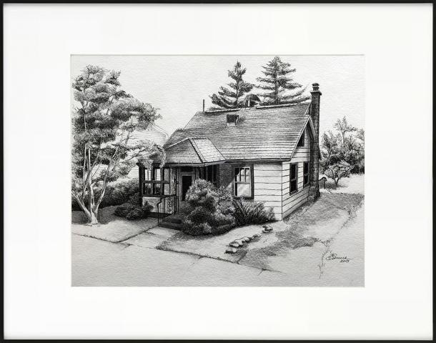 HOUSE PORTRAIT | Watercolors, Pen & Ink on Watercolor Paper