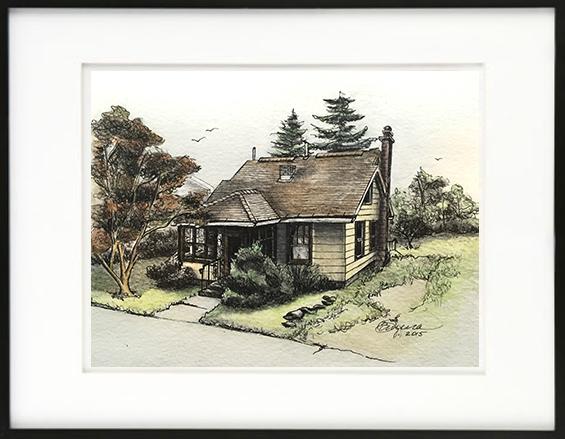 HOUSE PORTRAIT | Watercolors, Pen & Ink on Watercolor Paper | 2015