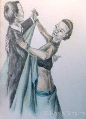 WALTZING AROUND | Colored Pencil drawing from life