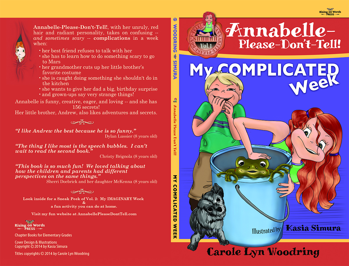BOOK COVER DESIGN | Graphic Design and Layout in Adobe InDesign for Annabelle-Please-Don't-Tell! Book Series