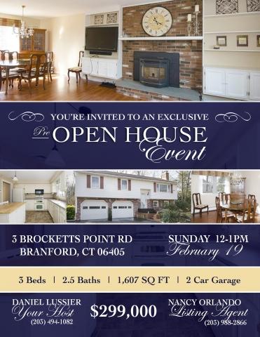 OPEN HOUSE INVITATION | Graphic Design for Real Estate