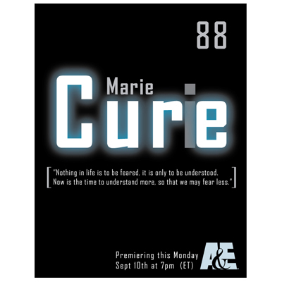 MARIE CURIE | Graphic Design, Poster Mockup (Personal Project)