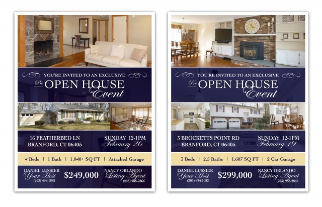 OPEN HOUSE INVITATIONS | Graphic Design for Real Estate