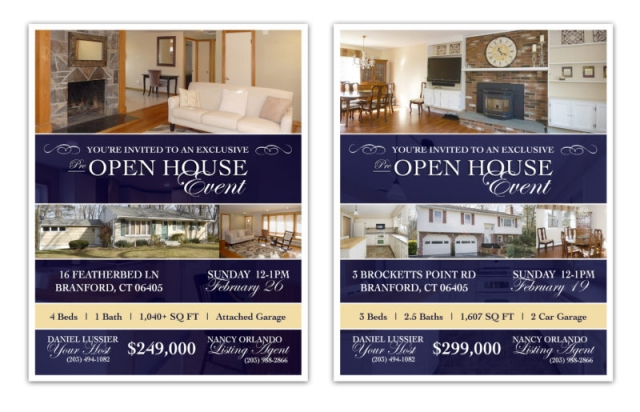 OPEN HOUSE INVITATIONS | Graphic Design for Real Estate