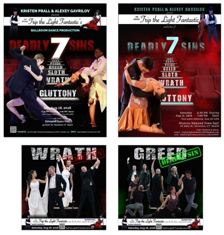 7 Deadly Sins | Poster Design for a Dance Theater Performance