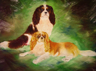 CASPER AND DAZZLER | Oil Painting on Canvas Board