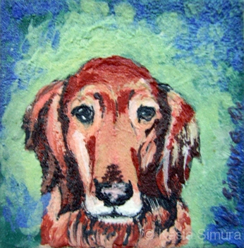 GOLDEN RETRIEVER | Commissioned Painted Fused Glass