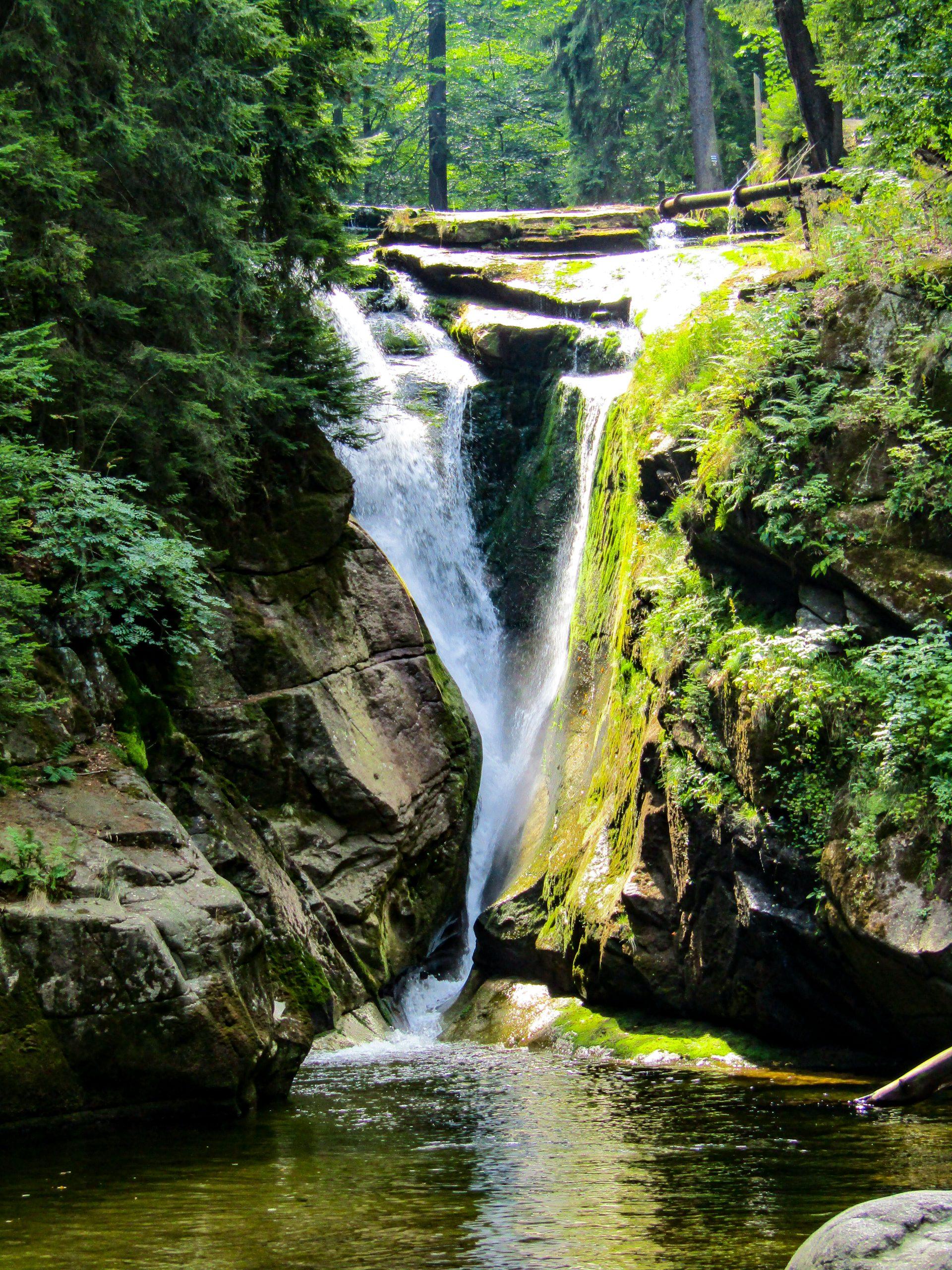 Cascading Waters of Szklarki Waterfall, Szklarska Poreba, Poland