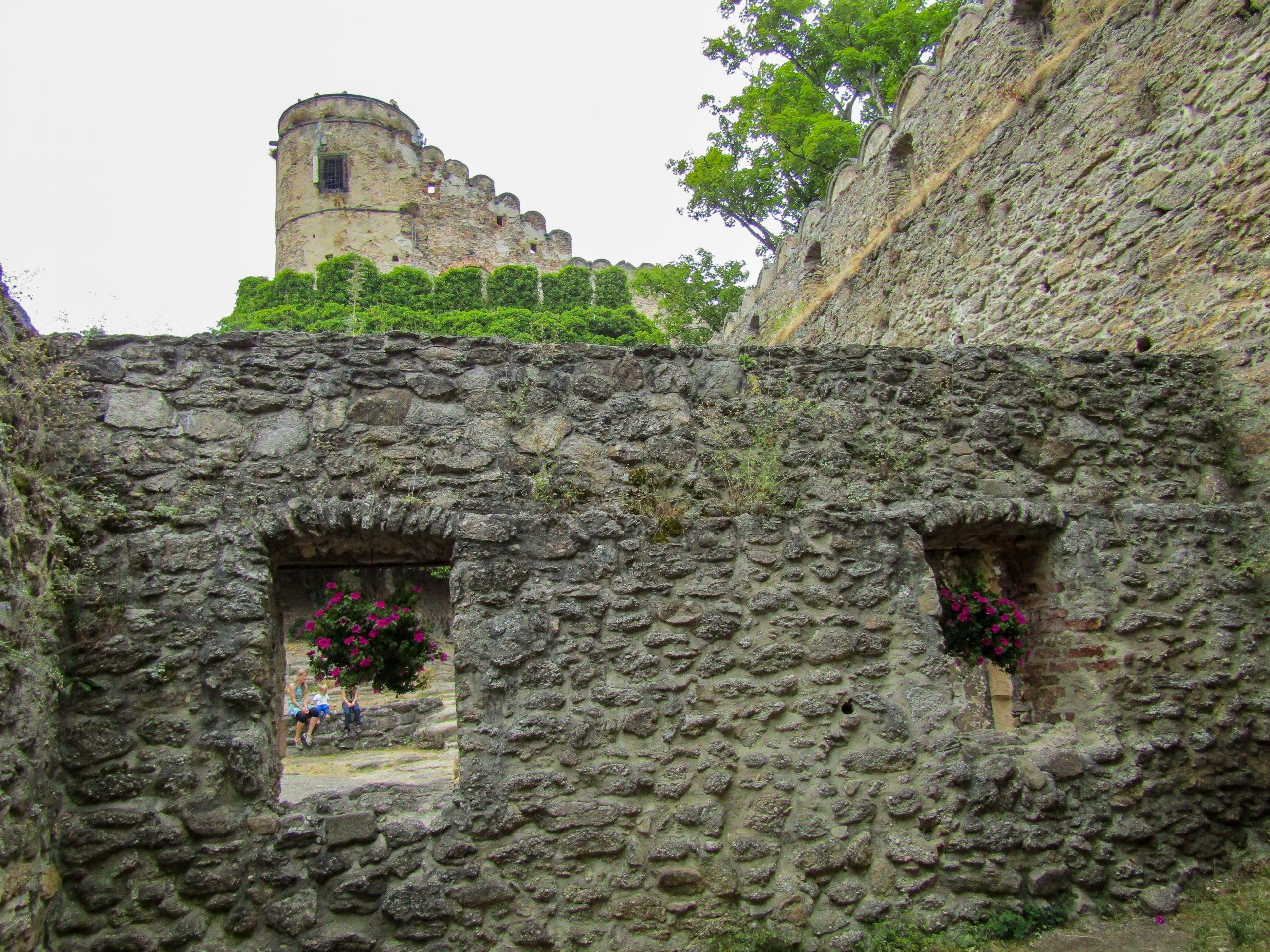 Architectural Detail of Chojnik Castle in Jelenia Gora, Poland