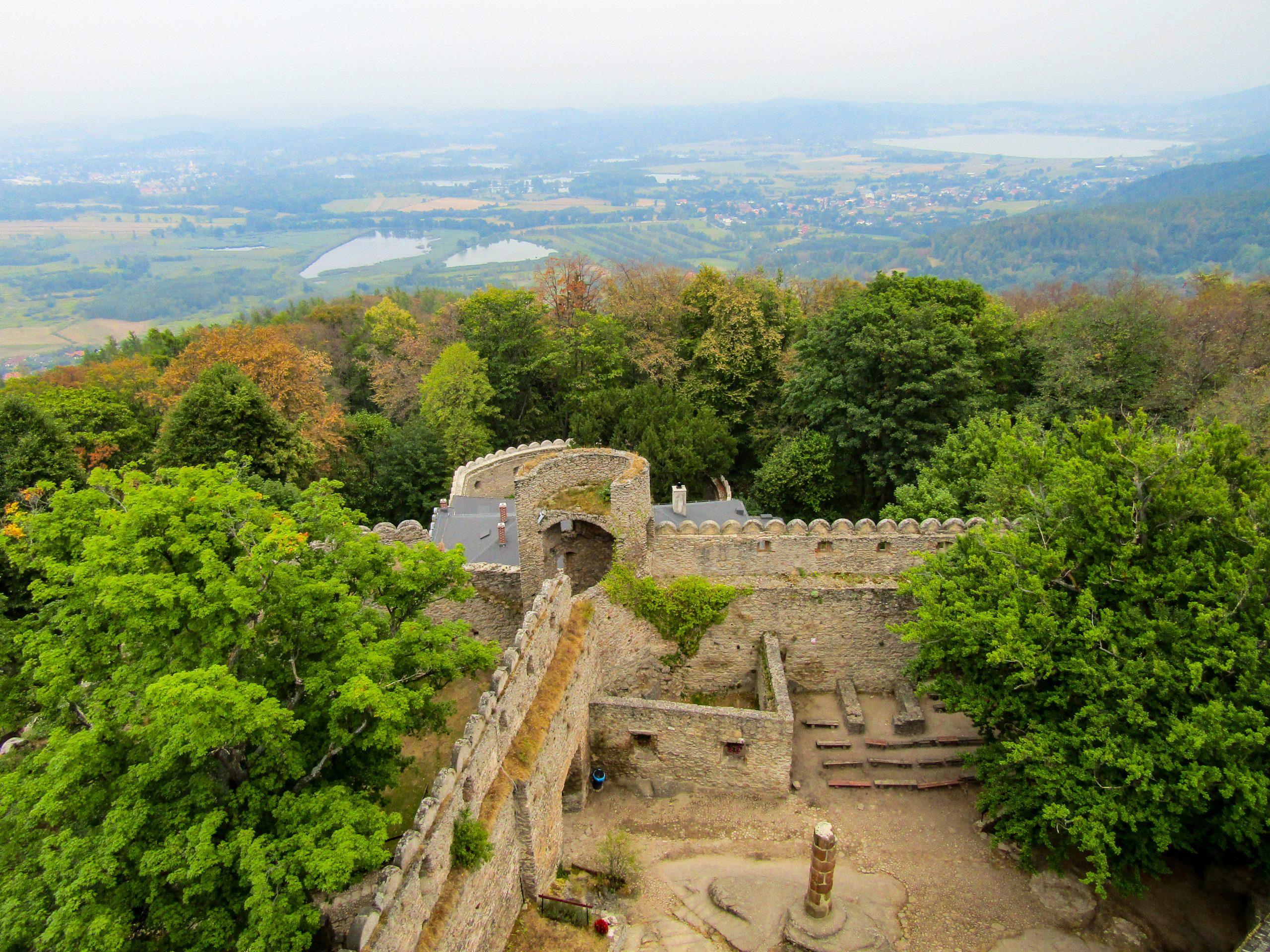Chojnik Castle Ruins amidst the mountains of Jelenia Gora, Poland