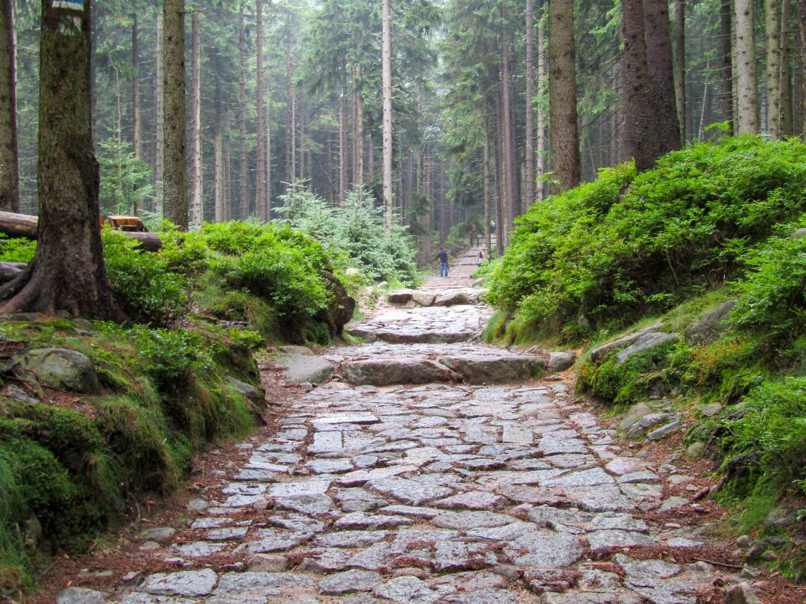Start of trails up to Sniezka Mountain